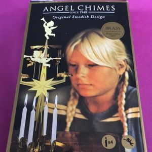 Swedish Angel Chimes Candle New tradition brass holiday centerpiece novelty